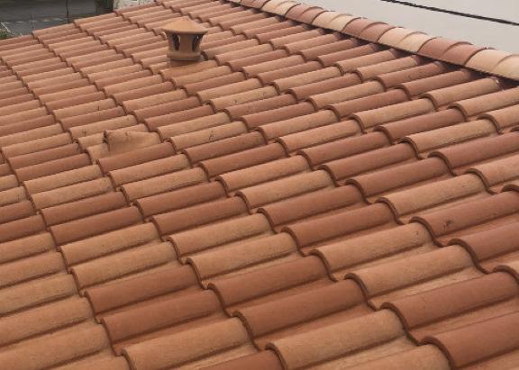 Demoussage et nettoyage de toiture apres recoupe
